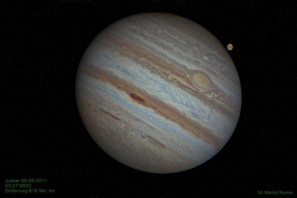 Jupiter + Ganymed 26-09-2011