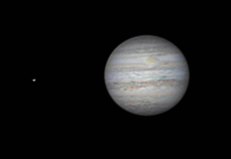 Jupiter mit GRF und Mond Europa