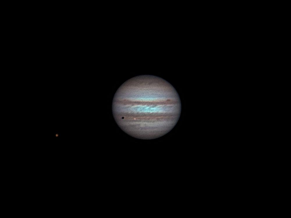 Jupiter mit Io und Ganymed 14.11.11 21:23 MEZ