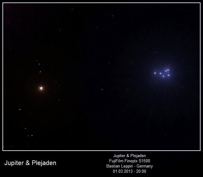 Jupiter und die Plejaden