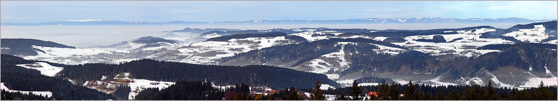 Jura-Panorama vom Chuderhüsi-Turm