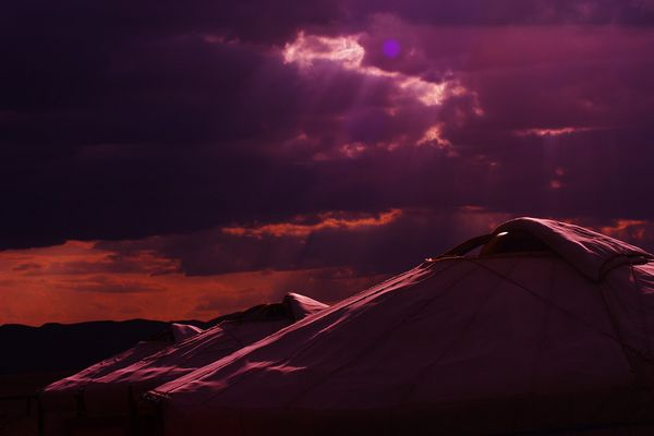 Jurten in der Gobi