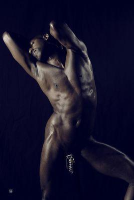 just a black model