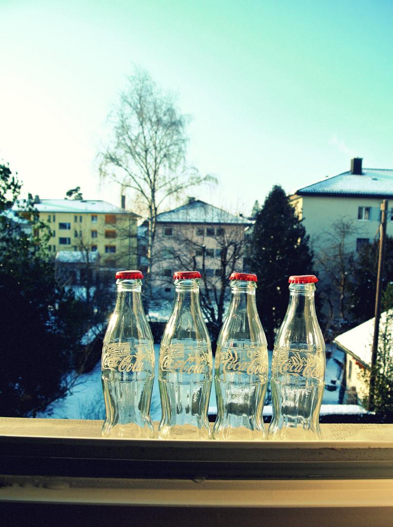 just some Coke bottles.'