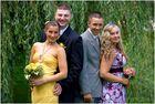 Justina&Rafal mit den Trauzeugen
