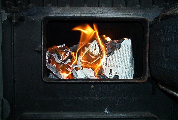 Kachelofenfeuer
