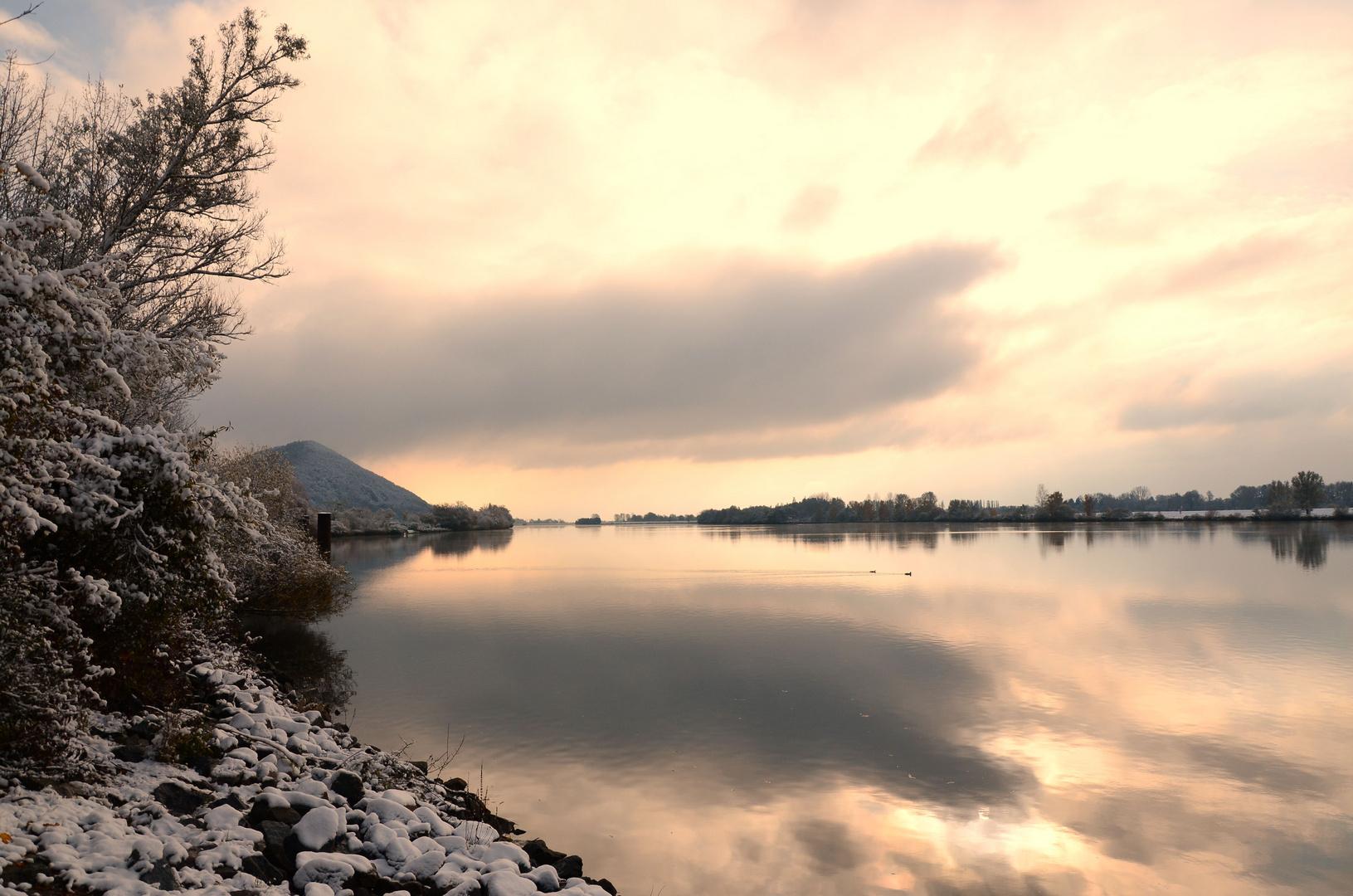 Kälte an der Donau