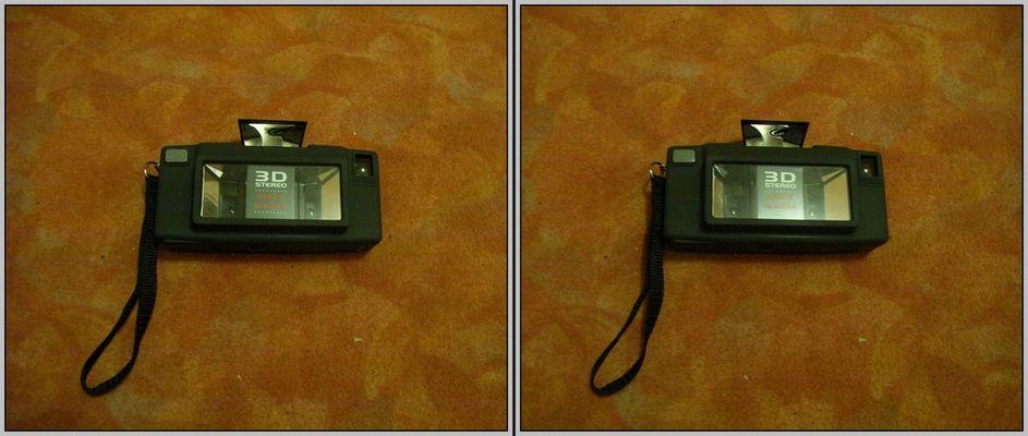 Käpten Blaubär 3D Kamera 3D Kreuzblick