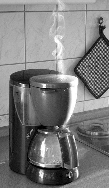 Kaffe trinken im Appartment