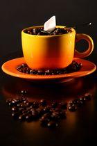 Kaffee in Orange
