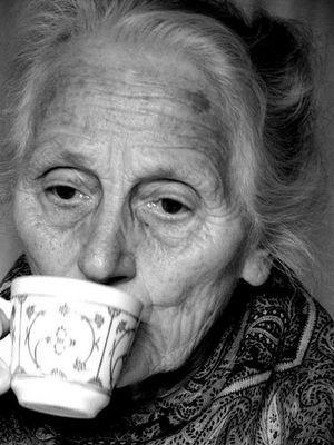 Kaffee trinken...