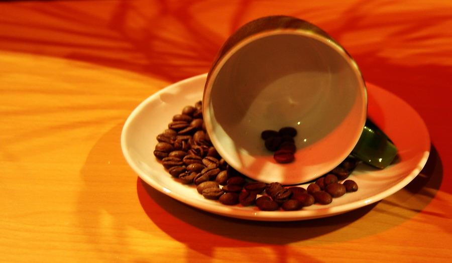 Kaffee verschüttet