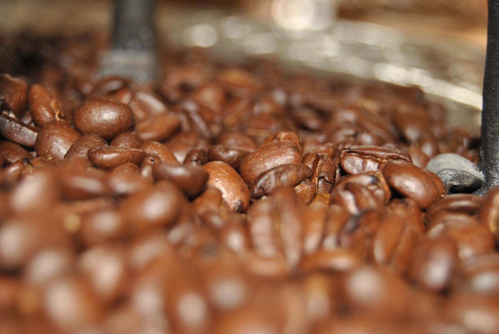 Kaffeebohnen als Deko