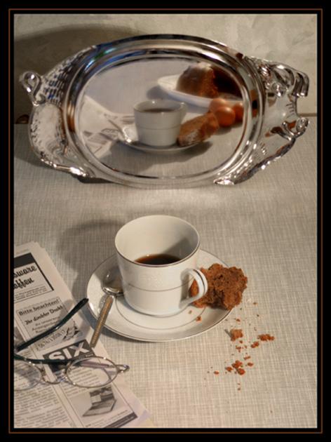 Kaffeepause -davor und danach