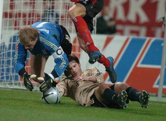 Kahn am Tor mit Frings - 1.FC Nürnberg