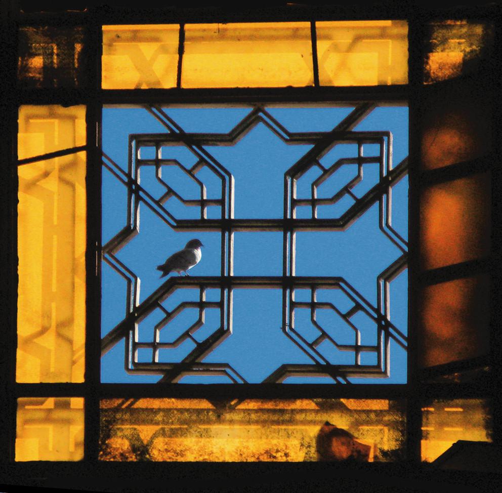 Kairo, Kathedrale St. Markus, Taube im Fensterkreuz