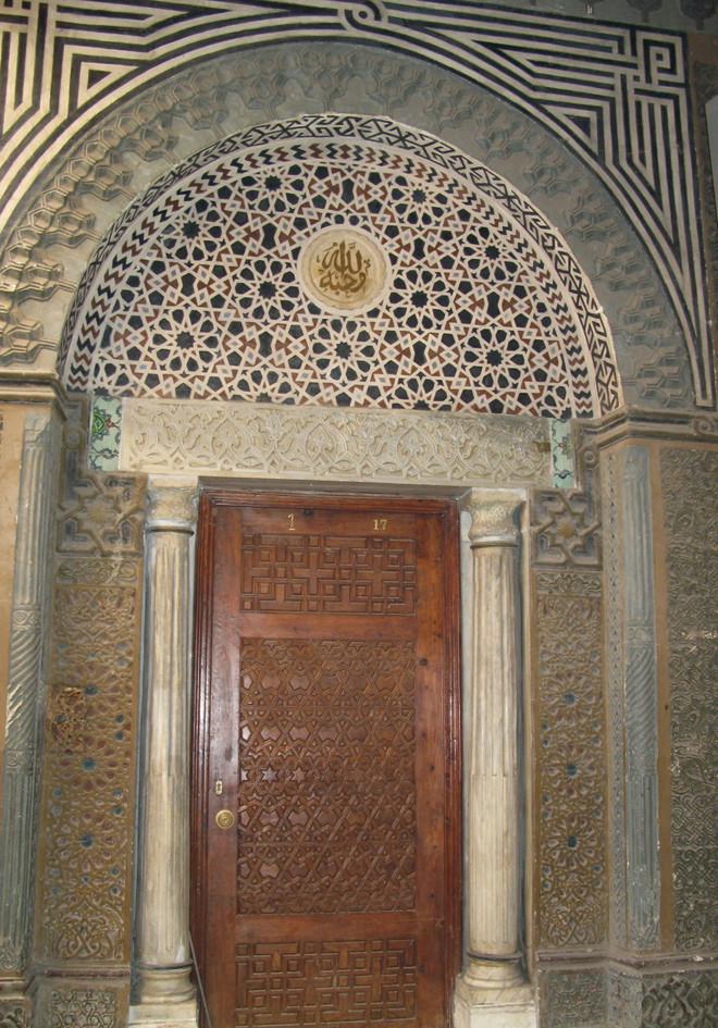 Kairo, koptisches Viertel, Seitentüre der Kirche al-Muallaqa