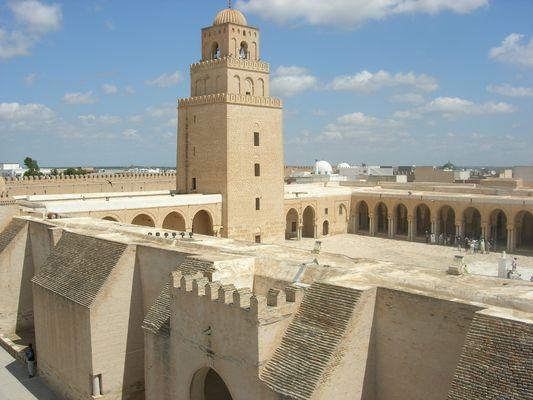 Kairouan, La grande mosquée, vue générale
