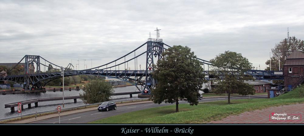 Kaiser-Wilhelm-Brücke...