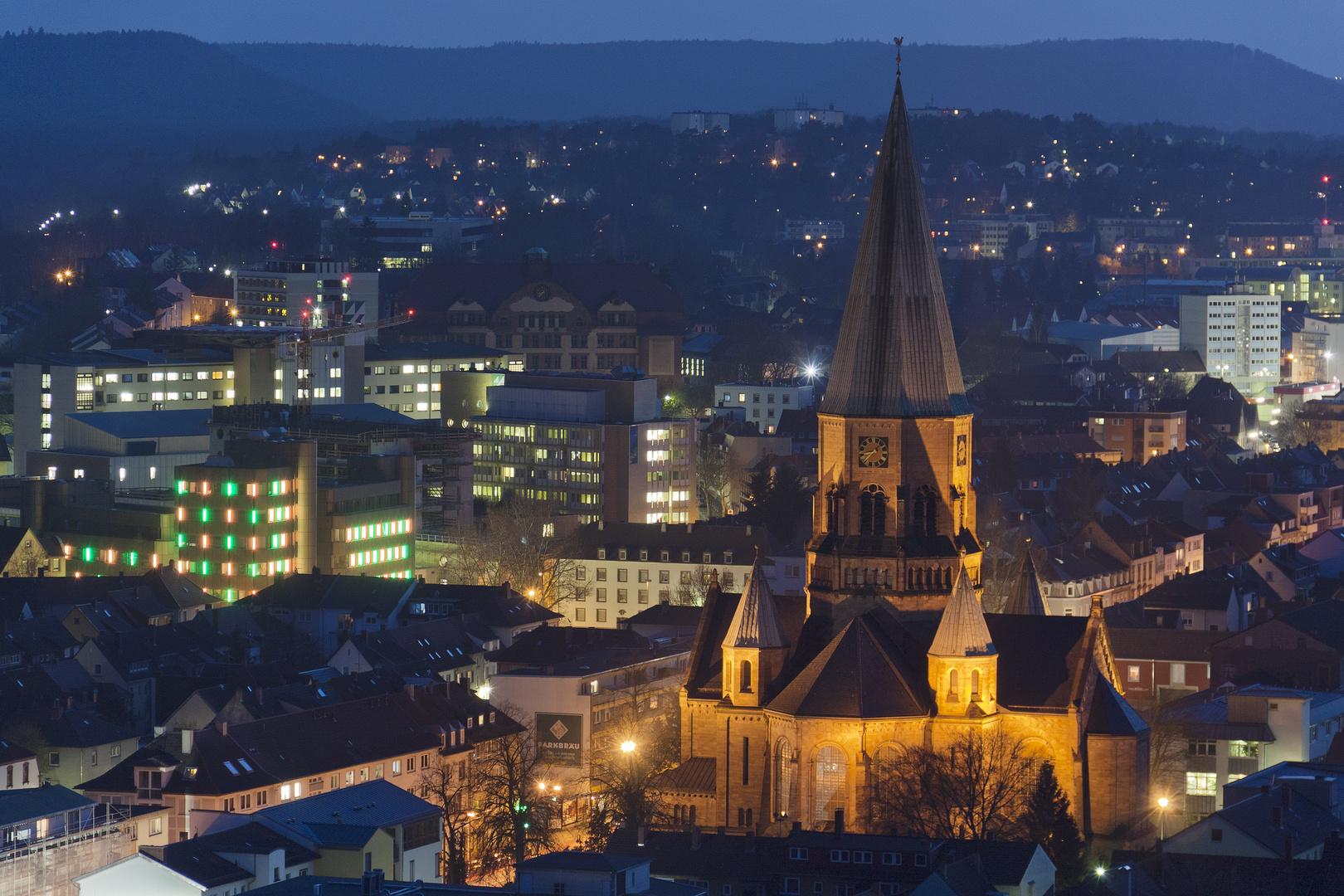 Kaiserslautern bei Nacht