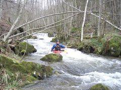 Kajak fahren pur - im Schwarzwald