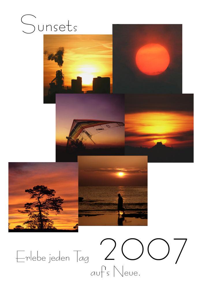 Kalender 2007 Sunsets