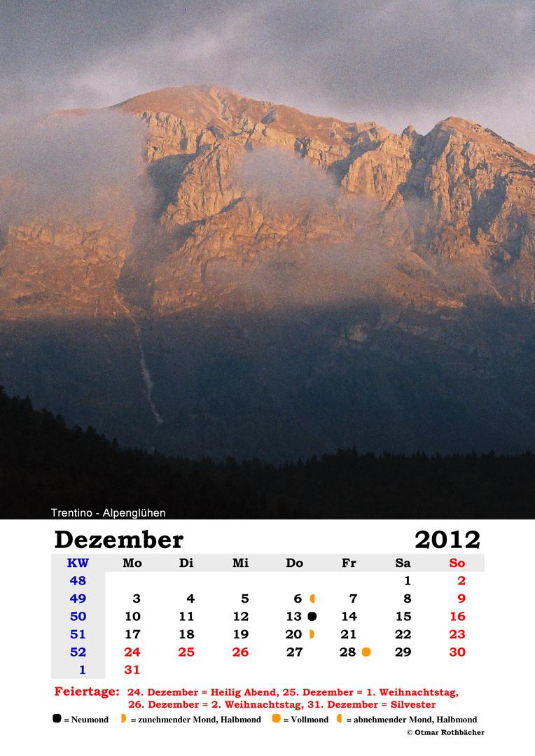 Kalender 2012 - Dezember