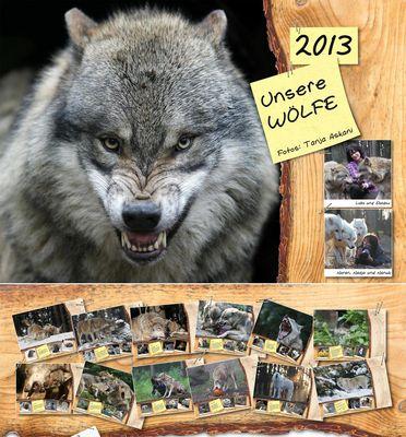 "Kalender 2013 ""Unsere Wölfe"""
