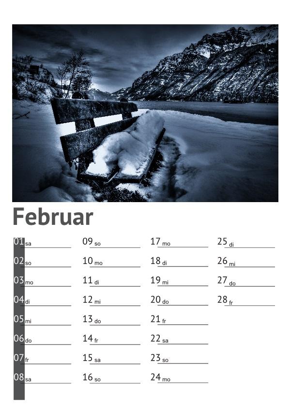 Kalender Walensee 2014: Februar