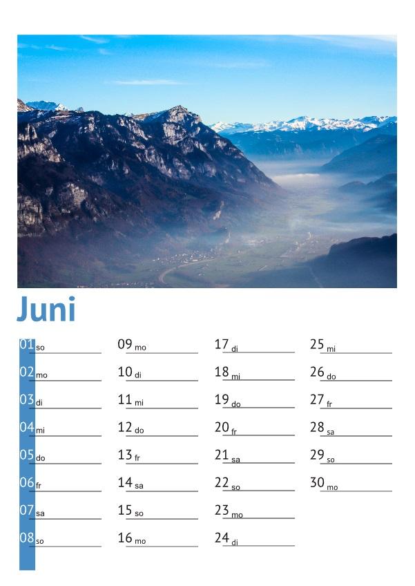 Kalender Walensee 2014: Juni