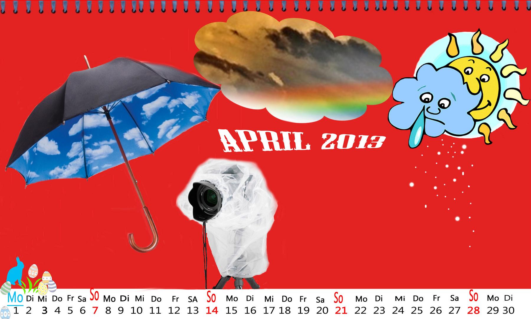 "Kalenderblatt """" April """" 2013 !!!"