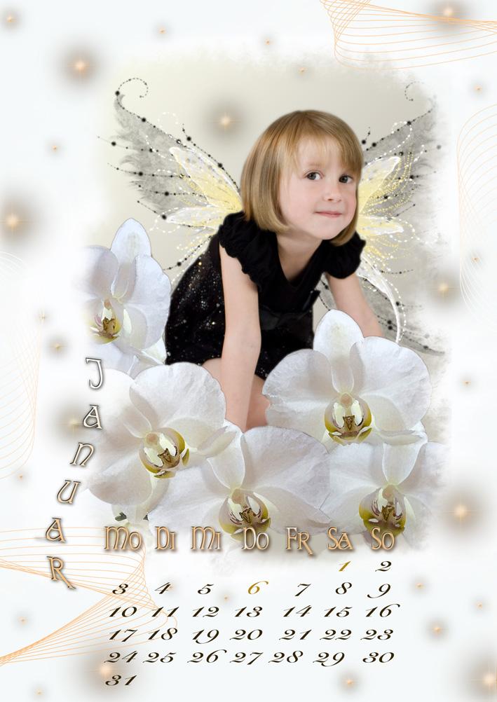 Kalenderblatt Januar 2011 - Kleine Elfe