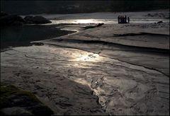 Kali Gandaki Abend am Fluss