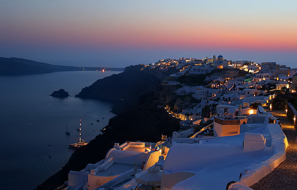 kali nichta Santorini mou