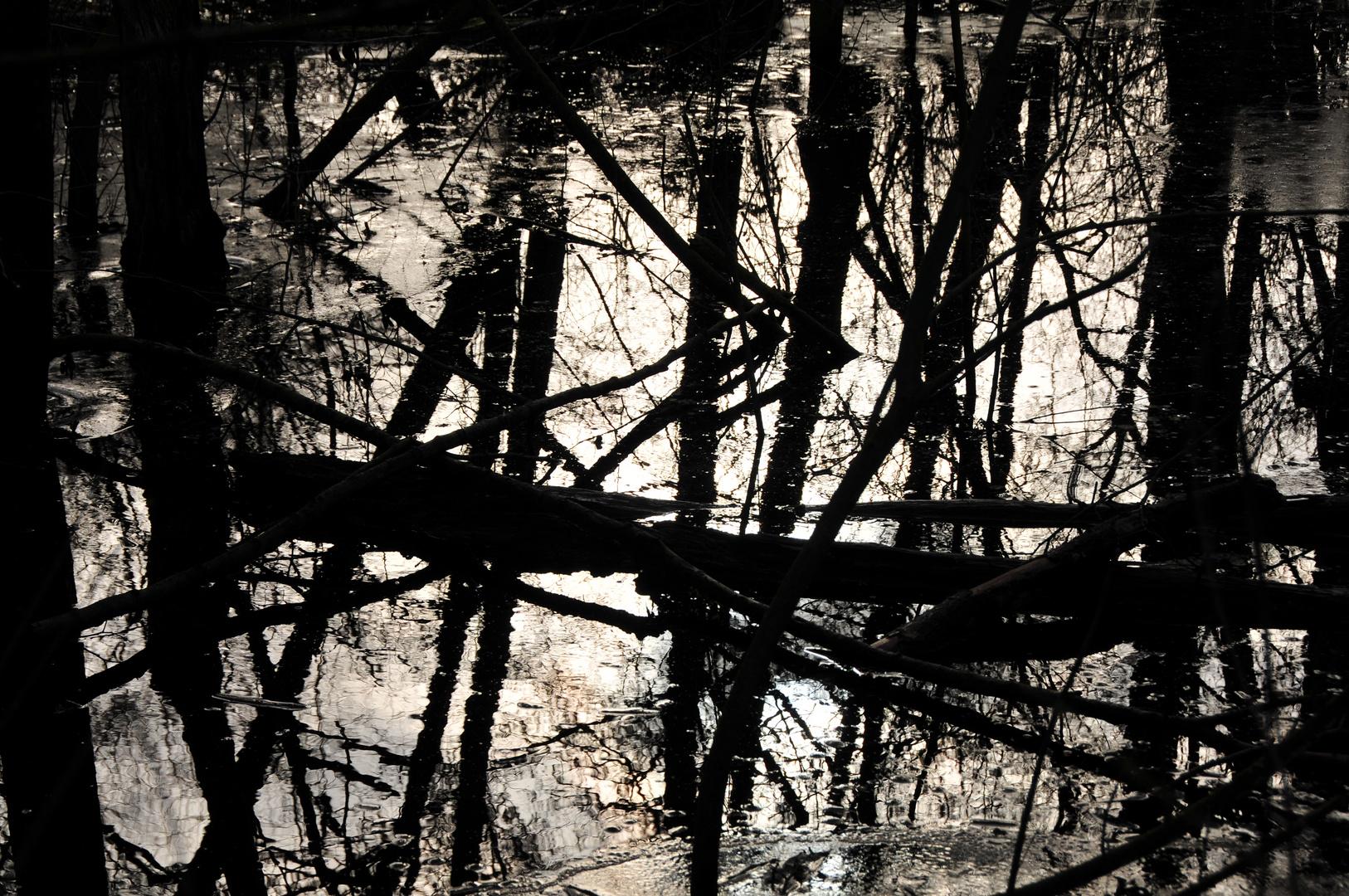 Kaligraphie im Wasser