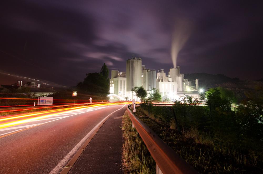Kalkwerk bei Nacht