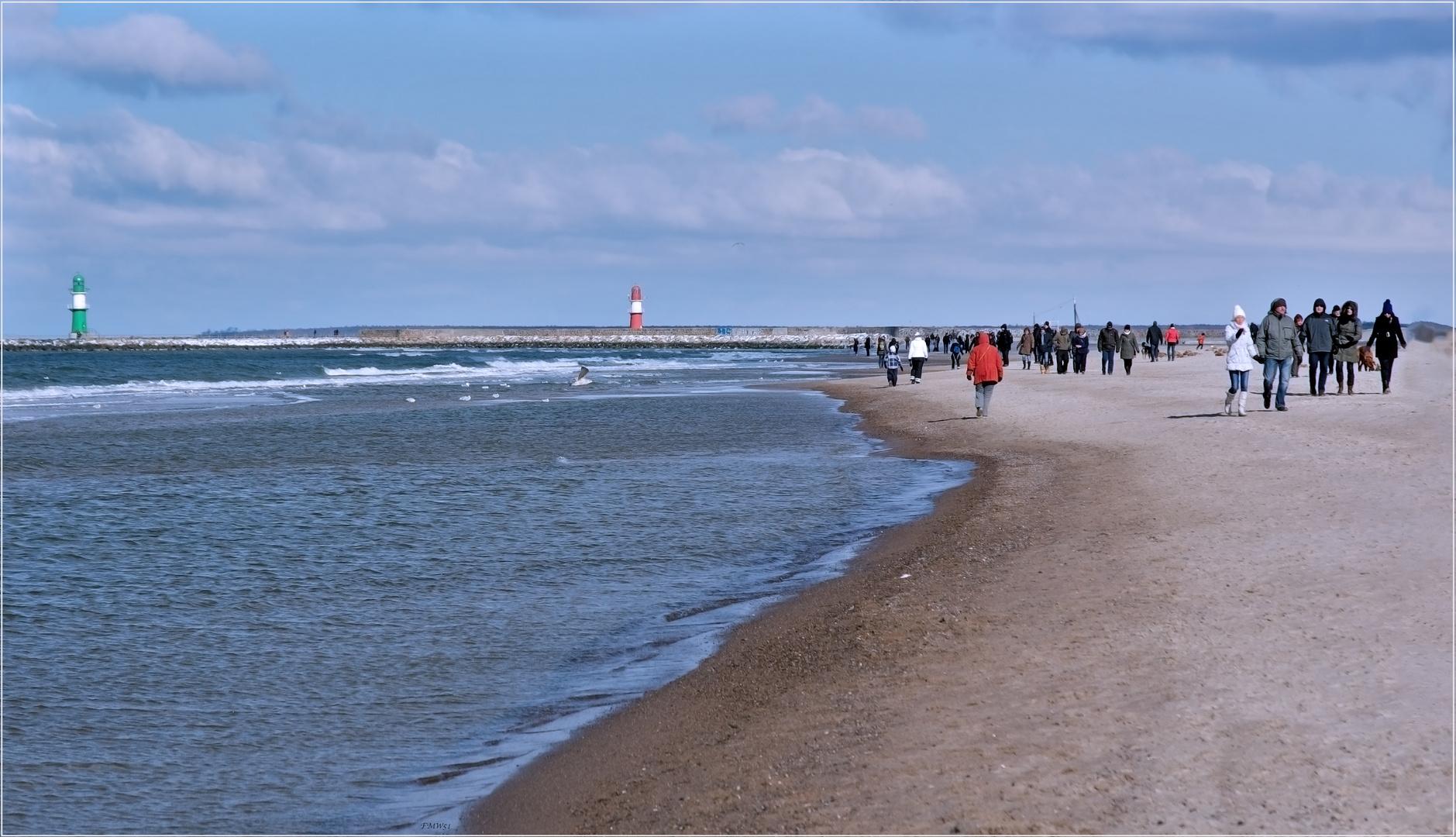 Kalt am Strand