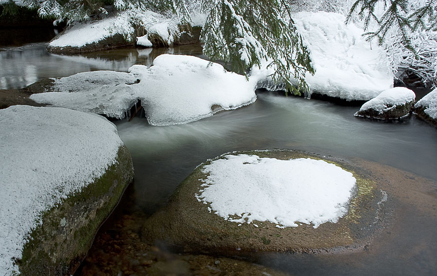 Kalte Bode im Winter