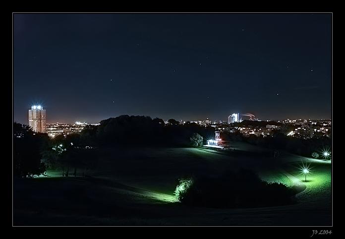 kalte Nacht im Olympiapark