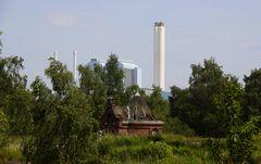 Kaltehofe mit Kraftwerk Tiefstack