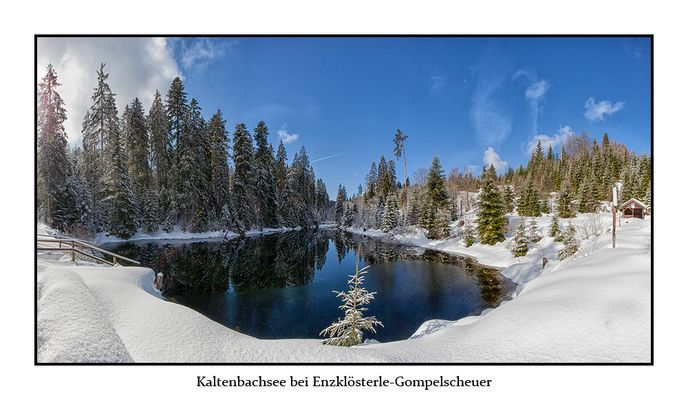 Kaltenbachsee bei Enzklösterle-Gompelscheuer