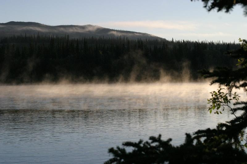 Kalter Morgen am Yukon