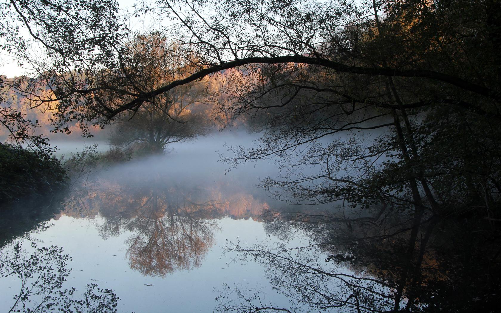 Kalter Morgen an der Ruhr