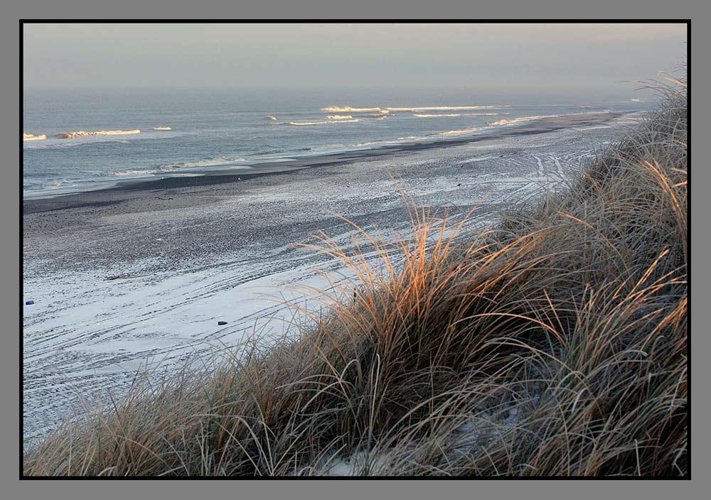 Kalter, schöner Strand