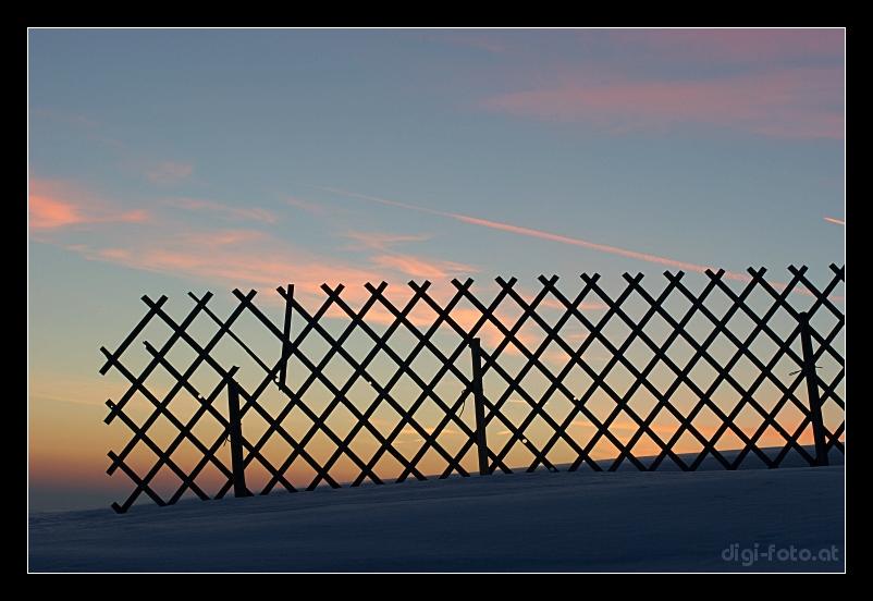 kalter Sonnenuntergang...