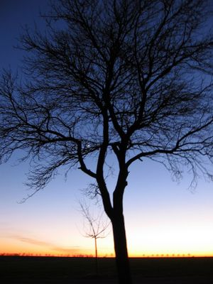 kalter Sonnenuntergang