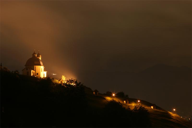 Kalvarienberg bei Nacht