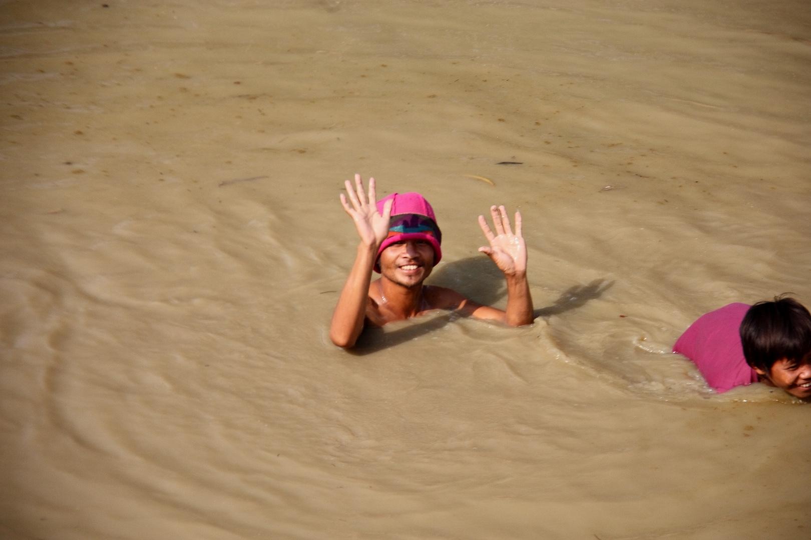 Kambodschanische Badekappe