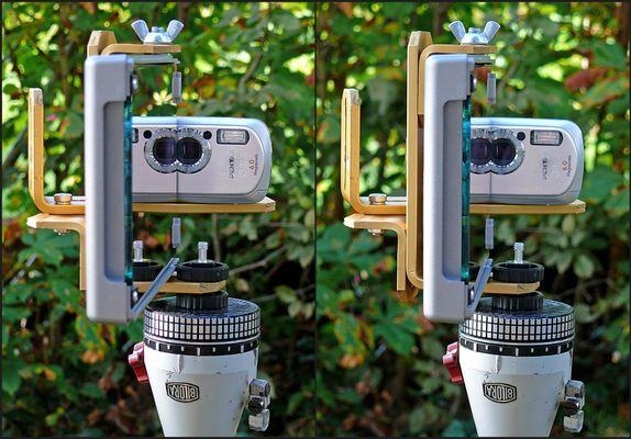 """Kamera-Spiegel-Montage für """"Ein-Spiegel-3D-Nahaufnahmen"""""""