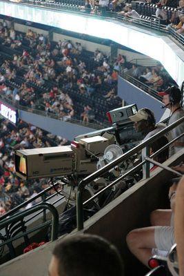 Kameramänner im Turner Field